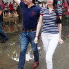 CAGAYAN de Oro Representative Benjo Benaldo with actress Daiana Menezes during an activity in Barangay Bonbon last Saturday. (Joey P. Nacalaban)