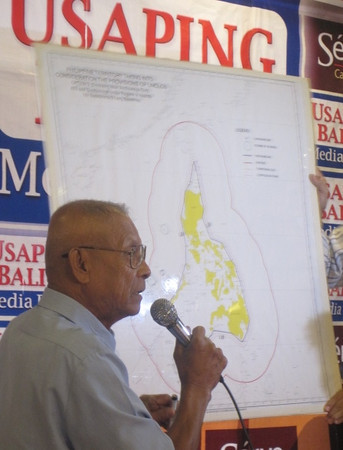MANILA. House committee on national defense and security chairman Rodolfo Biazon wants to send UN peacekeepers in the West Philippine Sea if the territorial dispute worsens. (Kathrina Alvarez)