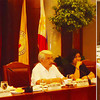 BACOLOD. Governor Alfredo G. Marañon Jr. presents the concerns of the province to the Regional Development Council Advisory Committee meeting Tuesday presided by RDC chair Capiz Governor Victor Tanco Sr. (3rd from left). (Carla N. Cañet)