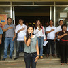 PAMPANGA. CLTV 36 Search for Star in a Million contestant and pride of Sta. Ana town, Awit Garcia, sings the national anthem during a flag raising ceremony. Mayor Rommel Concepcion and SB members are giving their all-support to the young singer who is among the top 8 finalists. (Chris Navarro)