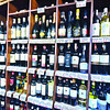 Various types of imported wine served at Swiss Deli and Restaurant