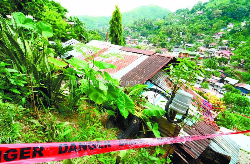 Landslide prone area in Cebu