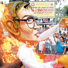DAVAO. An effigy of President Benigno C. Aquino III goes up in smoke at Rizal Park in Davao City during the protest action by militant groups as part of the nationwide protest during the fourth State of the Nation Address. (King Rodriguez)