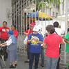 MANILA. Anti-RH protesters gather outside the Supreme Court compound. (Virgil Lopez/Sunnex)