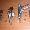 Items recovered from robbers in Cebu City