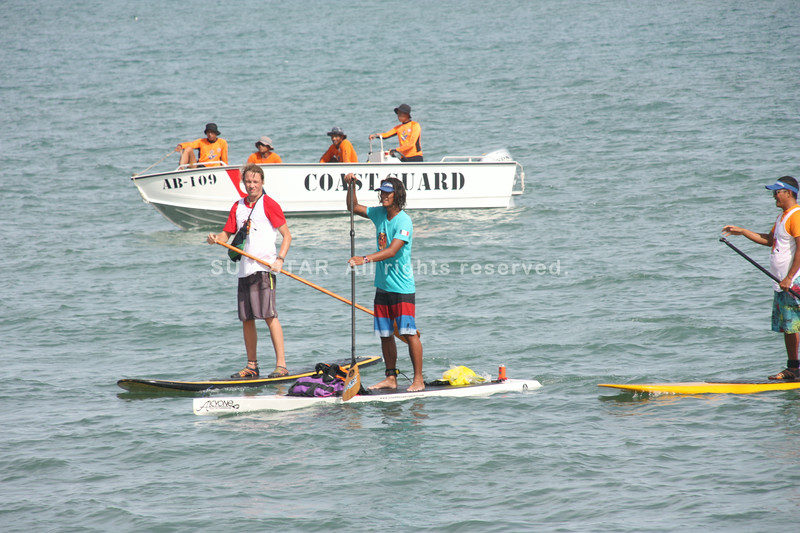 First Stand-Up paddler