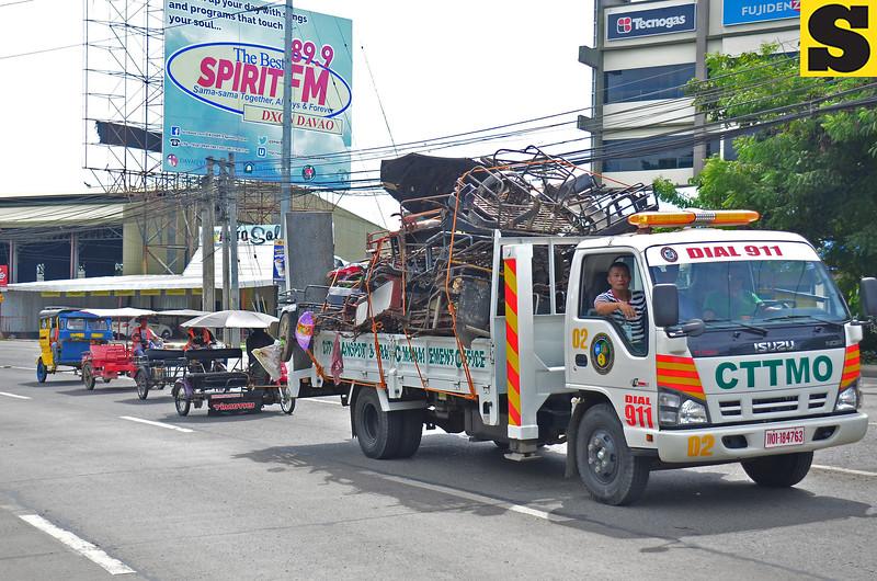 Impounded pedicab