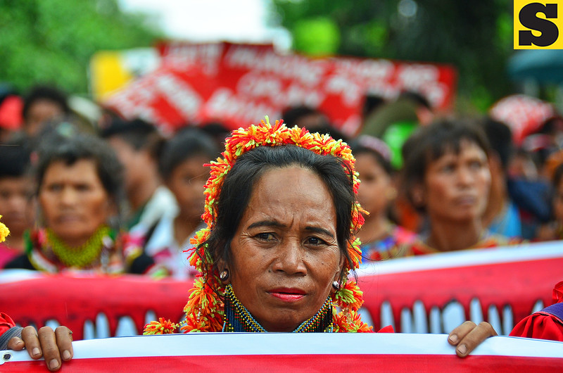 Lumad protester