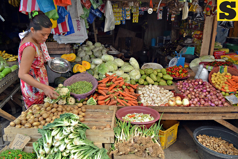 Vegetable vendor in Langihan, Butuan