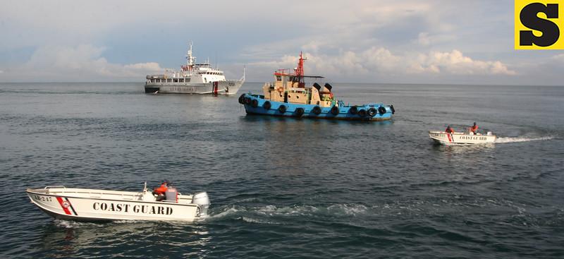 Philippine Coast Guard conducts fire drill