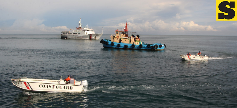 Philippine Coast Guard conducts fire drill