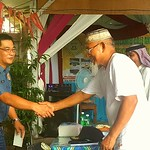 Muslim Imam with Bacolod police official