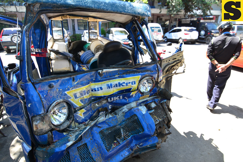 Road accident checked by traffic enforcer