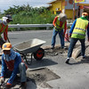 Road repair in Pampanga