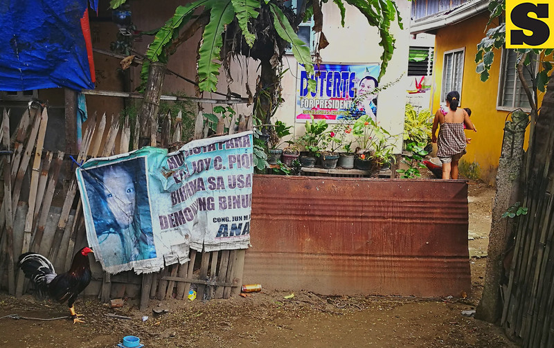 Tarpaulin bearing the image of Ellah Joy Pique