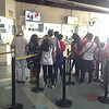 MRT passengers buying tickets