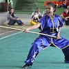 Wushu long weapon competition