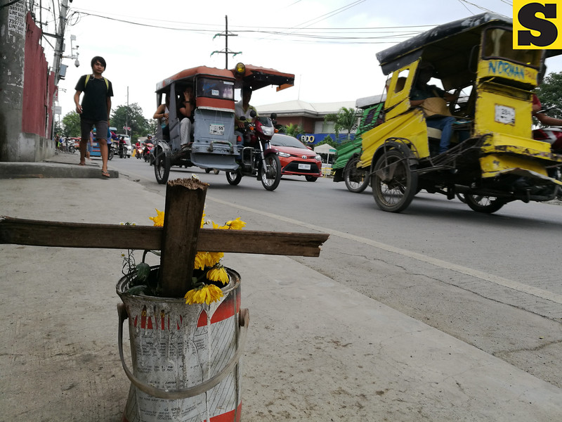 Spot where traffic enforcer Raquel Bensi was shot dead