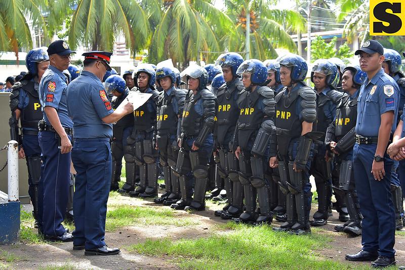Davao city police in gear