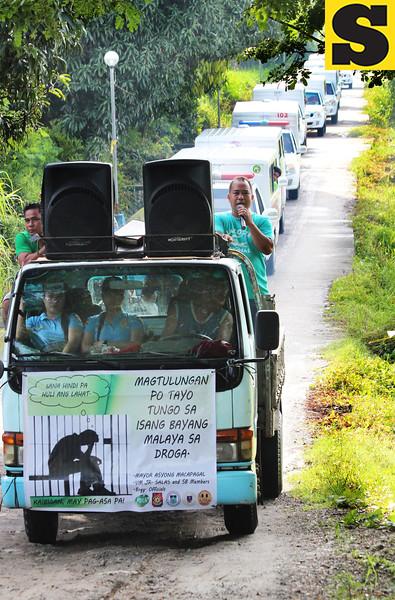 Anti-drug campaign in San Luis, Pampanga