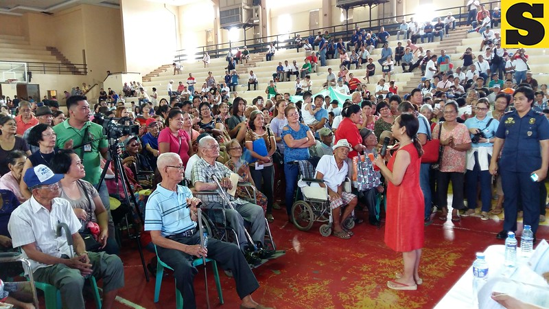 Representative Gloria Macapagal Arroyo with constituents