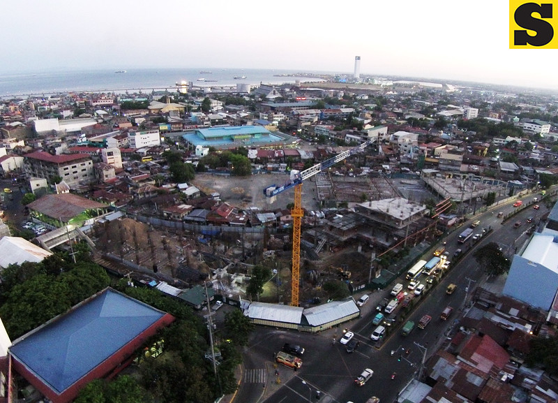 Aerial view of the ongoing construction of Cebu City Medical Center