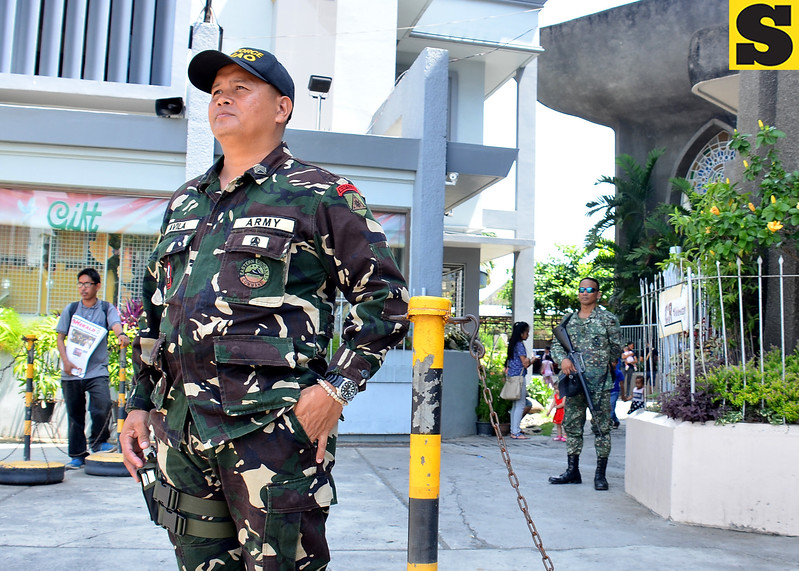 Task Force Davao secures San Pedro Cathedral