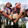 Higaonon tribal leaders perform ritual