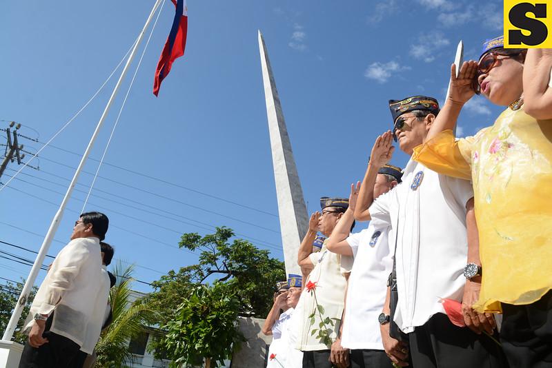 World War II veterans during Araw ng Kagitingan