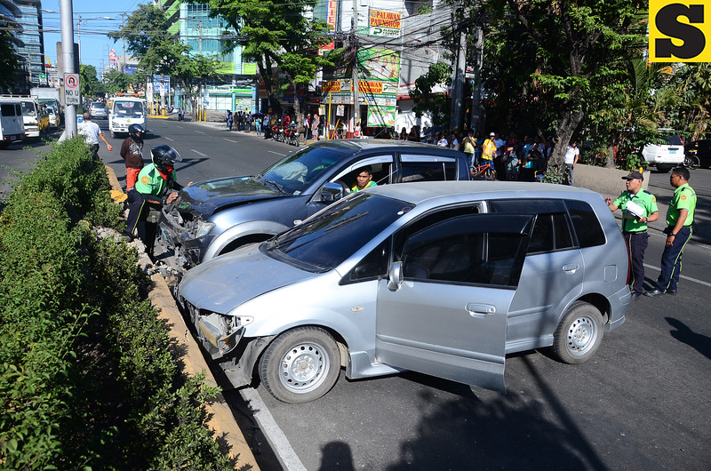 Road accident on Escario street, Cebu City