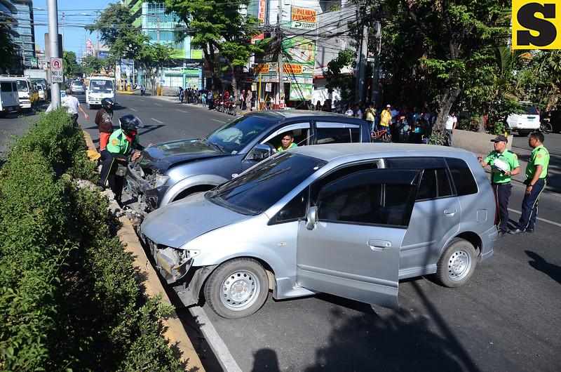 Road accident on Escario street, Cebu City