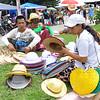 Hat and fan vendor
