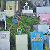 Cemetery on a hillside