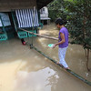 Flooded house in San Luis, Pampanga