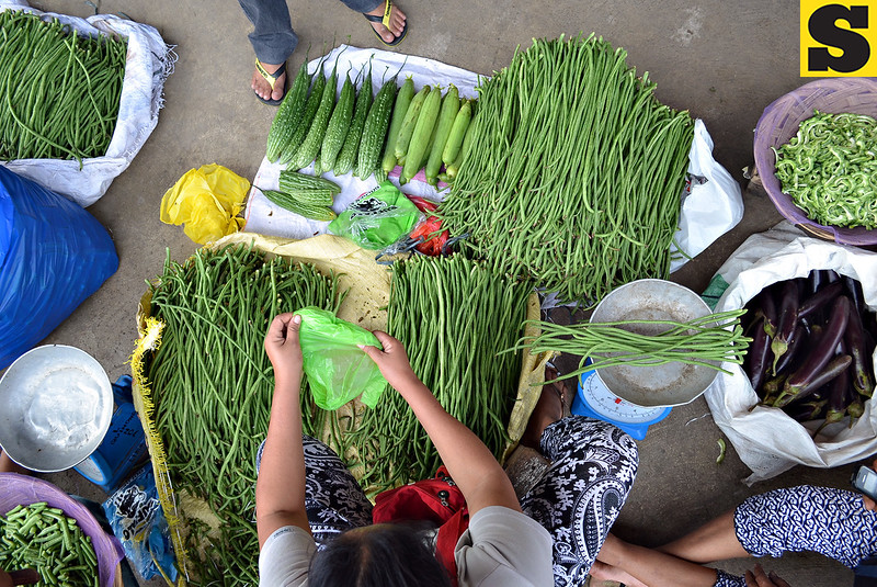 String beans vegetable vendor