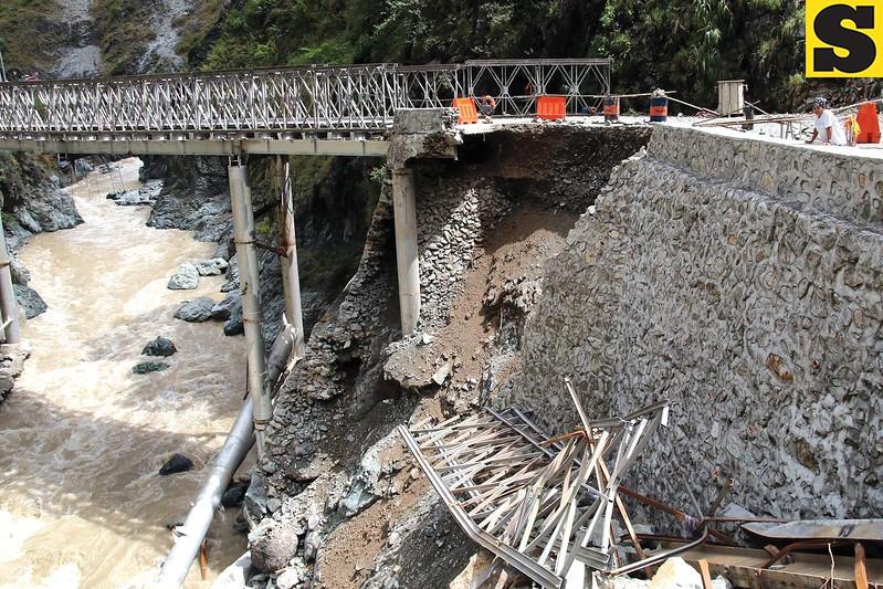 Kennon Bridge damaged