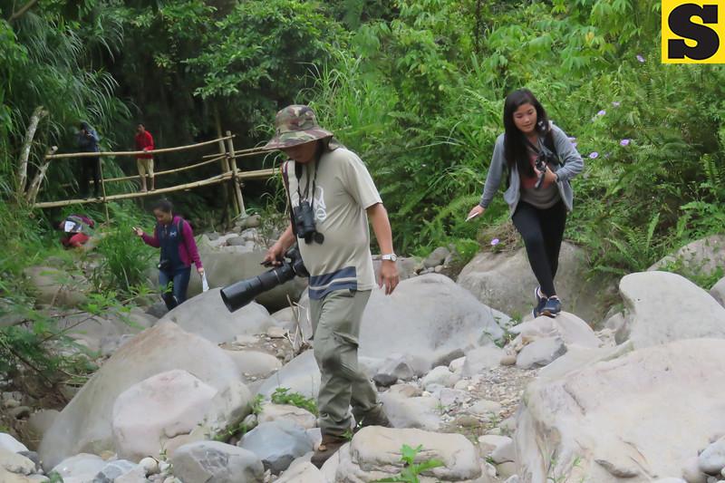 Bird watchers in Panigan River