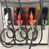 Fuel line in a gasoline station