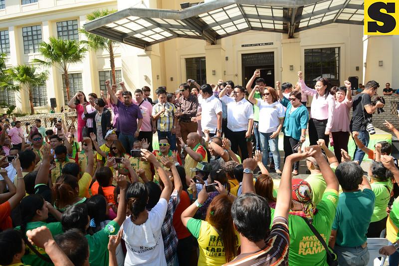 Cebu City Hall officials gathering