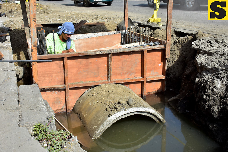Drainage construction project