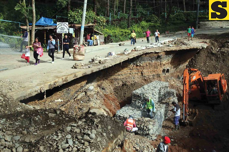 Ambuklao damaged road