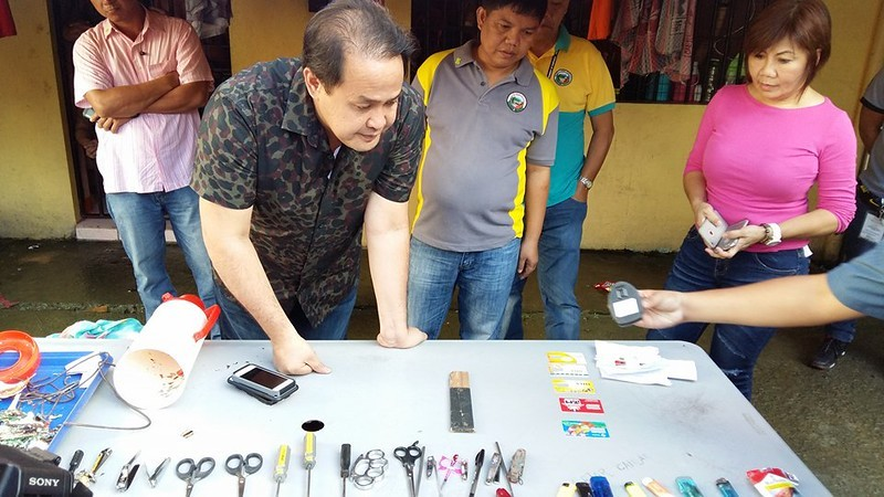 Contrabands seized at Pampanga Provincial Jail maximum security compound
