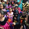 Kids wear Halloween costume