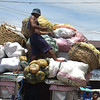 Baskets, sacks of vegetables