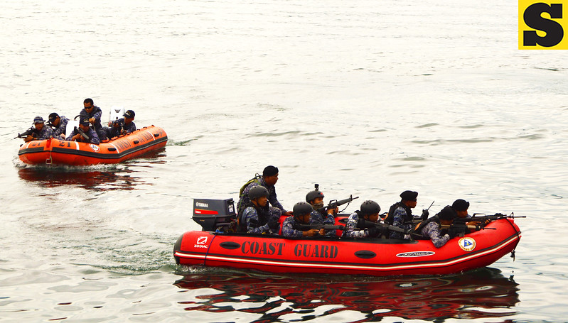 Philippine Coast Guard maritime drill