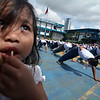 Philippine National Police recruits exercising