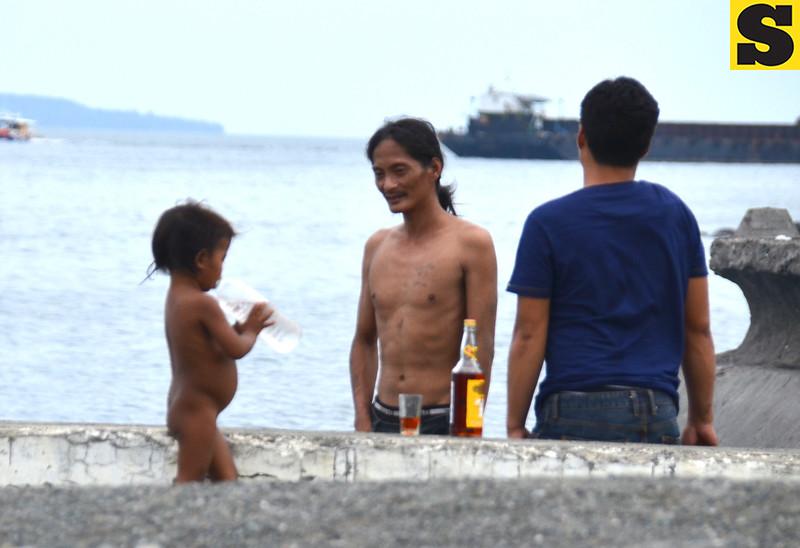 Men drinking liquor