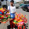 Plastic flower vendor