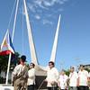 Mike Rama and Edgardo Labella attend Araw ng Kagitingan flag raising ceremony