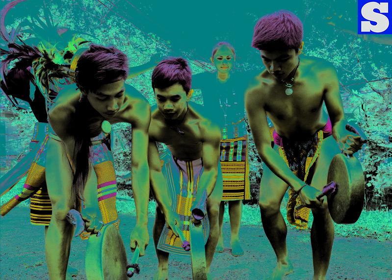 Young igorot dancers perform Kinerwash